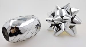 Rosett med presentband 6-pack Silver