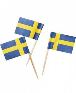 Cocktailflaggor Sverige 50st