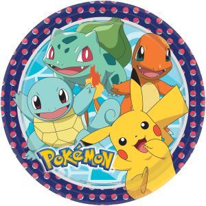 8-pack pokemon papperstallrikar