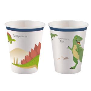 8-pack pappers muggar glada dinosaurier