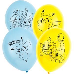 6-pack Pokemon Latex Ballonger