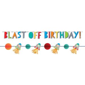 "Happy birthday girlang ""blast off"""