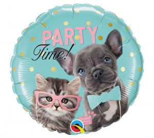 Cirkel Party Cat & Dog folieballong
