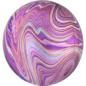 Marmorerad Lila Orbz Heliumballong