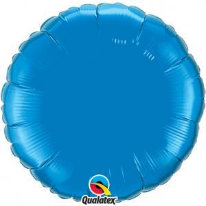 Cirkel Folieballong XL Safir blå