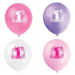 ballong 1år rosa