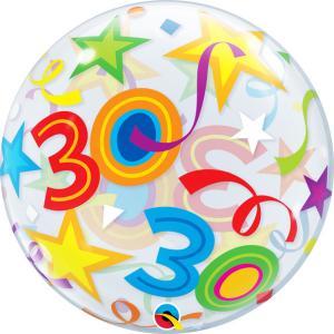 Bubbles ballong 30 år multifärg