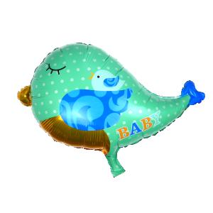 Baby boy fågel folieballong