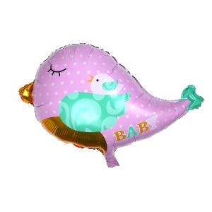 Baby Girl fågel folieballong