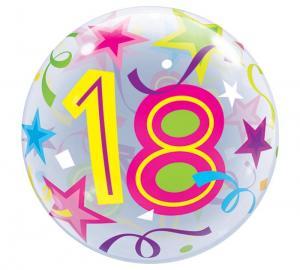 Bubbles ballong 18 år multifärg