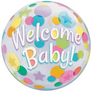 Bubbles welcome baby! heliumballong