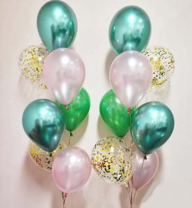 Chromékonfetti 7st latexballonger 3