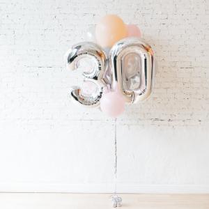 Födelsedags ballongbukett babygirl