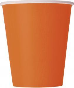 Pappersmuggar orange 14-pack