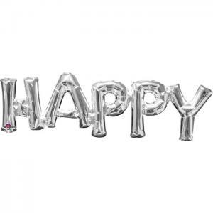 ballong Happy silver