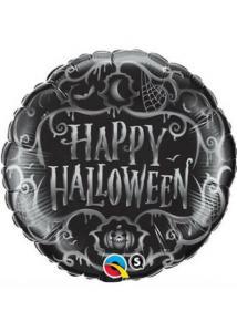 heliumballong happy halloween svart