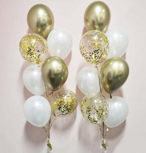 Chromékonfetti 7st latexballonger 13