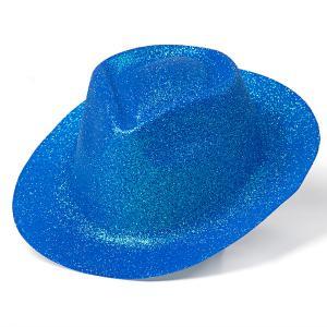 Minihat cowboy neo glitter blå
