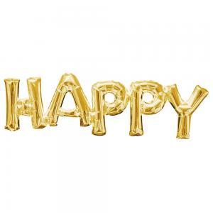 ballong Happy Guld