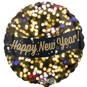 metallic Happy new year folieballong (Standard)