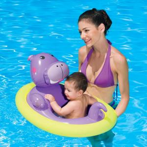 Uppblåsbar baby badring flodhäst