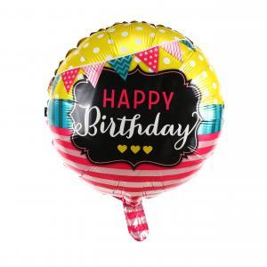 Happy Birthday vimpel födelsedags folieballong