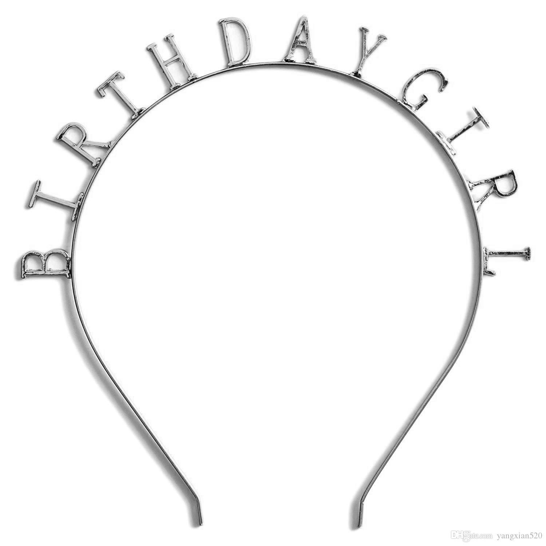 happy birthday tiara silver