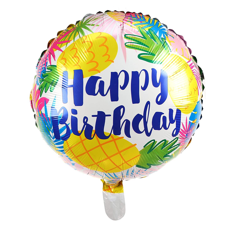 Happy Birthday ananas födelsedags folieballong