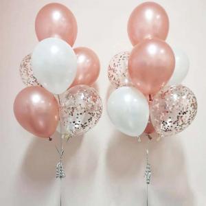 rosékonfetti 7st latexballonger