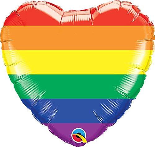 Heliumballong Regnbåge hjärta med helium