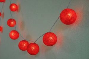 bomull bollar Led Lampor röd
