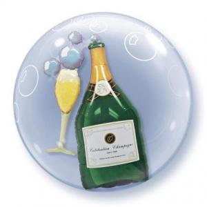 Bubbles champagne heliumballong