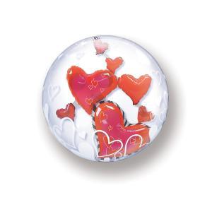 Bubbles hearts 3D