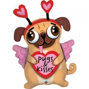 Pugs and Kisses Folieballong