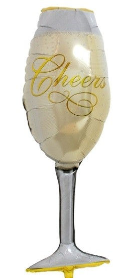 Cheers champagneglas folie ballong