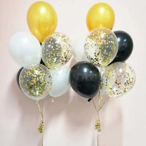 guldkonfetti 7st latexballonger