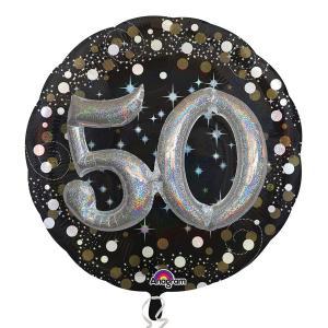 heliumballong Födelsedag 50år 3D