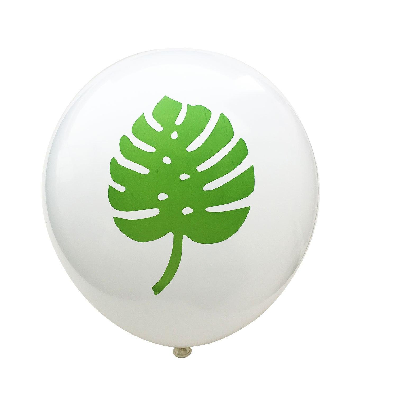 tropisk palmblad Latexballonger