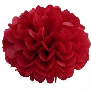 Pom Pom bollar 20cm röd