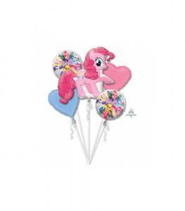 Ballongbukett Födelsedag med My Little Pony & 2st foliehjärtan