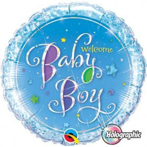 welcome baby boy folieballong