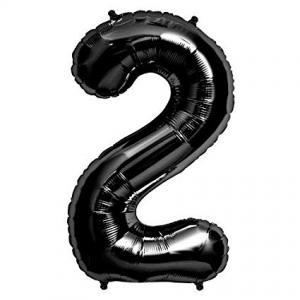 Stor siffer ballong svart 2