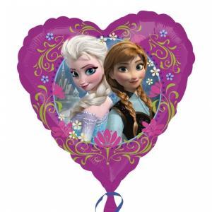 Hjärtformad Frozen Heliumballong