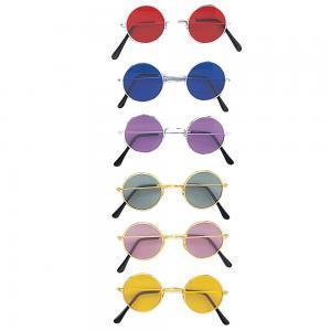 Färgade Lennon glasögon