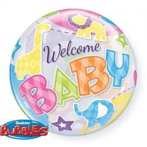 Bubbles welcome baby! djur heliumballong
