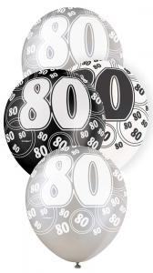 """80 svart glitter Latexballonger 12"""""""