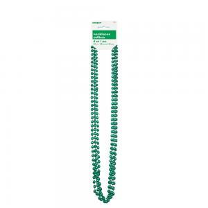 Grön metallic pärlhalsband  80cm 4-pack