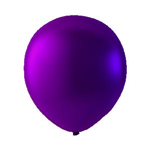 Mini Latex ballonger metallic Mörklila