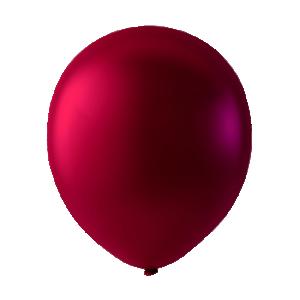 Pärlemor latexballong röd 30cm