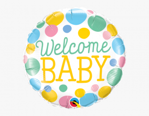 welcome baby pastell prickigt